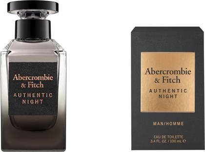 AUTHENTIC NIGHT MEN EAU DE TOILETTE 100ML ABERCROMBIE & FITCH