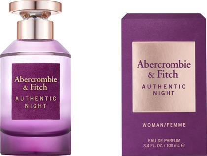 AUTHENTIC NIGHT WOMEN EAU DE TOILETTE 100ML ABERCROMBIE & FITCH