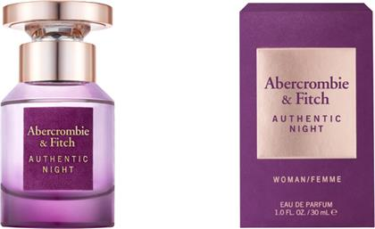 AUTHENTIC NIGHT WOMEN EAU DE TOILETTE 30ML ABERCROMBIE & FITCH