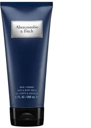 FIRST INSTINCT MEN BLUE HAIR & BODY WASH 200ML ABERCROMBIE & FITCH