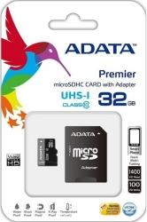 PREMIER 32GB MICRO SDHC UHS-I CLASS 10 RETAIL WITH ADAPTER ADATA