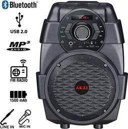 ΦΟΡΗΤΟ ΗΧΕΙΟ BLUETOOTH ABTS-806 USB,MP3,WMA & WAV (10W) AKAI