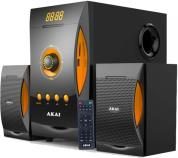 SS032A-3515 MULTIMEDIA 2.1 SPEAKERS 38W WITH BLUETOOTH USB SD AND RADIO AKAI