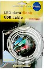 USB-18-BL USB DATA FLASH CABLE BLUE 1.8M A-MALE/B-MALE AKASA