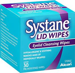 SYSTANE LID WIPES ΜΑΝΤΗΛΑΚΙΑ ΚΑΘΑΡΙΣΜΟΥ ΤΩΝ ΒΛΕΦΑΡΩΝ 30WIPES ALCON