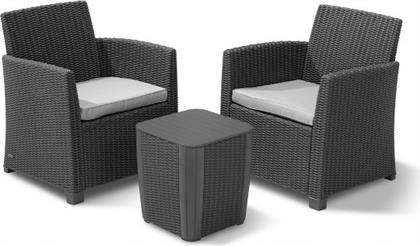 ΣΕΤ ΜΠΑΛΚΟΝΙΟΥ 3ΤΜΧ WICKER CORONA BALCONY SET GRAPHITE - - CORONA-BALCONY-SET-GRAPHITE ALLIBERT