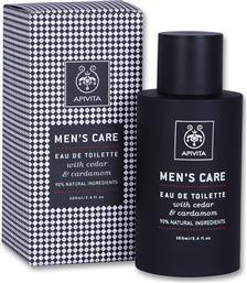 MENS CARE EAU DE TOILETTE ΜΕ ΚΑΡΔΑΜΟ & ΚΕΔΡΟ 100ML APIVITA