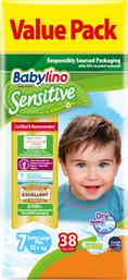 ΠΑΝΕΣ ΜΩΡΟΥ SENSITIVE ECO NΟ7 (17+KG) 38 TΕΜ BABYLINO