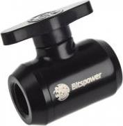 MINI VALVE WITH BLACK HANDLE 1/4 INCH MATT BLACK BITSPOWER
