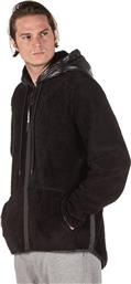 MEN'S LOOSE DOLLY ZIP SWEATER WITH HOOD 1192-959522-00100 ΜΑΥΡΟ BODYTALK
