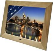 DIGIFRAME 1587 15'' PHOTO FRAME WITH SPEAKER BEECH BRAUN