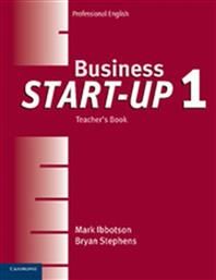 BUSINESS START UP 1 TEACHER'S BOOK CAMBRIDGE