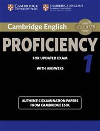 CERTIFICATE OF PROFICIENCY IN ENGLISH 1 STUDENT'S BOOK WITH ANSWERS N/E 2012 UPDATE CAMBRIDGE