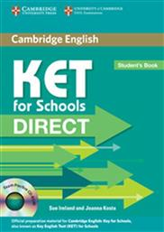 DIRECT KET FOR SCHOOLS STUDENT'S BOOK (+CD-ROM) CAMBRIDGE