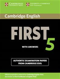 ENGLISH FIRST 5 STUDENT'S BOOK WITH ANSWERS CAMBRIDGE