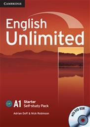 ENGLISH UNLIMITED A1 STARTER SELF STUDY PACK (+WORKBOOK +DVD-ROM) CAMBRIDGE