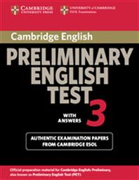 PRELIMINARY ENGLISH TEST 3 STUDENT'S BOOK WITH ANSWERS CAMBRIDGE