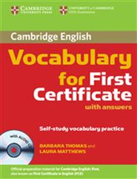 VOCABULARY FOR FCE STUDENT'S BOOK (WITH ANSWERS) +CD CAMBRIDGE