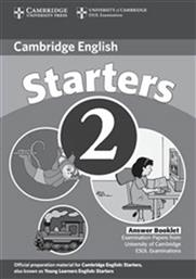 YOUNG LEARNERS ENGLISH TESTS STARTERS 2 ANSWER BOOKLET 2ND EDITION CAMBRIDGE