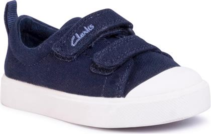 SNEAKERS - CITY BRIGHT T 261490877 NAVY CANVAS CLARKS