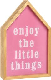 ΞΥΛΙΝΟ LIGHT BOX ΜΕ LETTERING ENJOY THE LITLE THINGS 17 X 27 CM - 005621311 - ΡΟΖ COINCASA