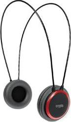 HP-100 ON-EAR HEADPHONE BLACK/RED CRYPTO