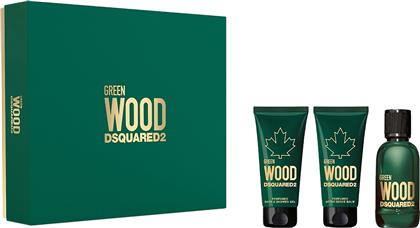 GREEN WOOD EAU DE TOILETTE 50 ML + PERFUMED BATH & SHOWER GEL 50 ML + PERFUMED AFTER SHAVE BALM 50 ML - 5D0670 DSQUARED2