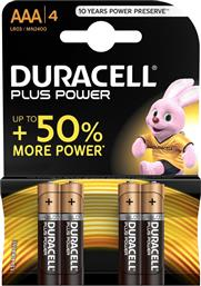 PLUS POWER ΑΛΚΑΛΙΚΕΣ ΜΠΑΤΑΡΙΕΣ ΑΑΑ 4ΤΜΧ DURACELL