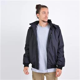 MEN'S RIBBED JACKET WITH DET/BLE HOOD (9000036089-40988) EMERSON