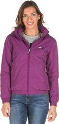 ROLL-IN HOODED BOMBER JACKET 192.EW10.88-DOBBY VIOLET ΜΩΒ EMERSON