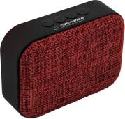 EP129R SAMBA BLUETOOTH SPEAKER WITH FM RADIO RED ESPERANZA