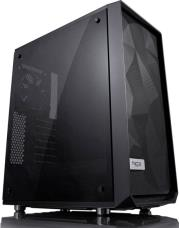 CASE MESHIFY C DARK TEMPERED GLASS BLACK FRACTAL DESIGN
