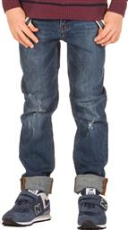 DENIM PANTS WITH SUSPENDERS FBB362-02219-DK BLUE ΜΠΛΕ FUNKY BUDDHA