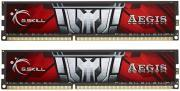 RAM F3-1600C11D-8GIS 8GB (2X4GB) DDR3 PC3-12800 1600MHZ AEGIS DUAL CHANNEL KIT GSKILL