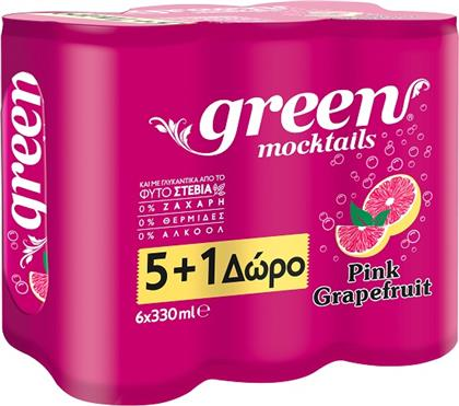 MOCTAIL PINK GRAPEFRUIT GREEN 3X(6X330 ML) 2+1 ΔΩΡΟ GREEN COLA