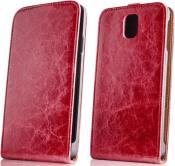 LEATHER CASE EXCLUSIVE FOR SAMSUNG G3500 CORE PLUS RED GREENGO