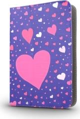 UNIVERSAL CASE HEARTS FOR TABLET 7-8'' GREENGO