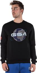 EARTH CREW NECK 17-19202-01 JET BLACK ΜΑΥΡΟ GSA