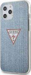 IPHONE 12 / IPHONE 12 PRO 6,1 LIGHT BLUE HARD BACK COVER CASE TRIANGLE COLLECTION GUESS