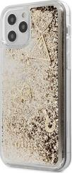 IPHONE 12 MINI 5,4 GUHCP12SGLHFLGO GOLD HARD BACK COVER CASE GLITTER CHARMS GUESS