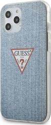 IPHONE 12 PRO MAX 6,7 GUHCP12LPCUJULLB LIGHT BLUE HARD BACK COVER CASE TRIANGLE COLLECTION GUESS