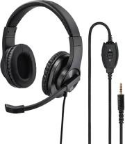 139926 HS-P350 PC OFFICE HEADSET STEREO BLACK HAMA