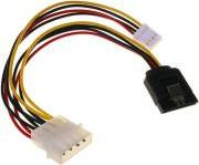 SATA POWER ADAPTER CABLE WITH 4-PIN FLOPPY 15CM INLINE