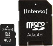 3413450 MICRO SDHC 4GB CLASS 10 WITH ADAPTER INTENSO