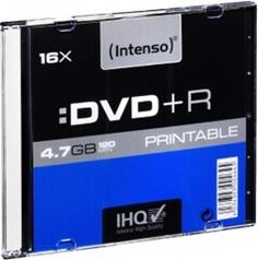 DVD+R 16X 4,7GB 120MIN PRINTABLE SLIMCASE - 1 ΤΕΜ - ΜΕΣΟ ΑΠΟΘΗΚΕΥΣΗΣ INTENSO