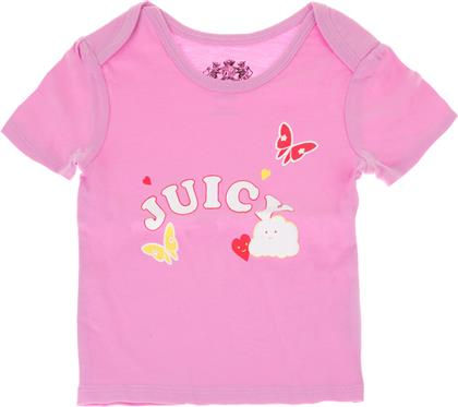 ΒΡΕΦΙΚΟ T-SHIRT RAINBOW LOVE ΡΟΖ JUICY COUTURE KIDS