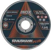 ΔΙΣΚΟΣ ΚΟΠΗΣ INOX INOX PLUS 125MM KRAUSMANN