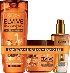 ELVIVE EXTRAORDINARY OIL JOJOBA SHAMPOO + MASK + OIL LOREAL PARIS