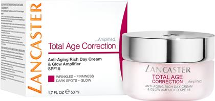 TOTAL AGE CORRECTION AMPLIFIED - ANTI-AGING RICH DAY CREAM & GLOW AMPLIFIER SPF15 50 ML - 8571036140 LANCASTER