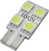 T10 CAN BUS ΜΕ 4 SMD 5050 ΨΥΧΡΟ ΛΕΥΚΟ 05664 LMS